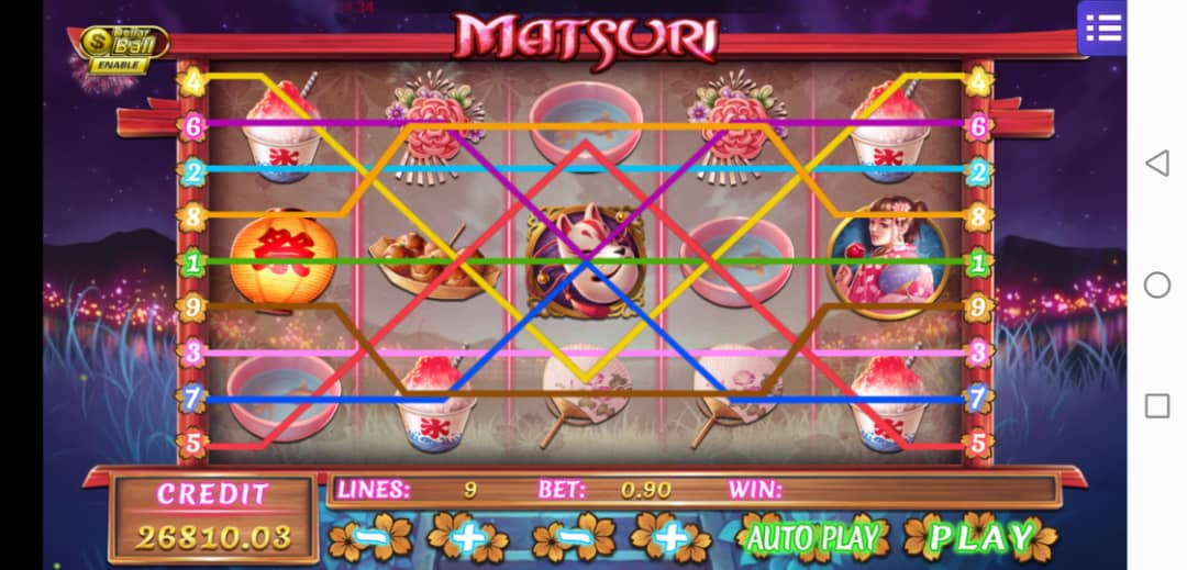 Review of Matsuri Slot Machine in Mega888 Free Bonus