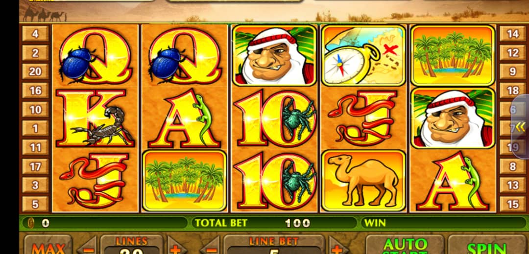 The Desert Treasure slot machine invites you to search for treasures together with Bedouins