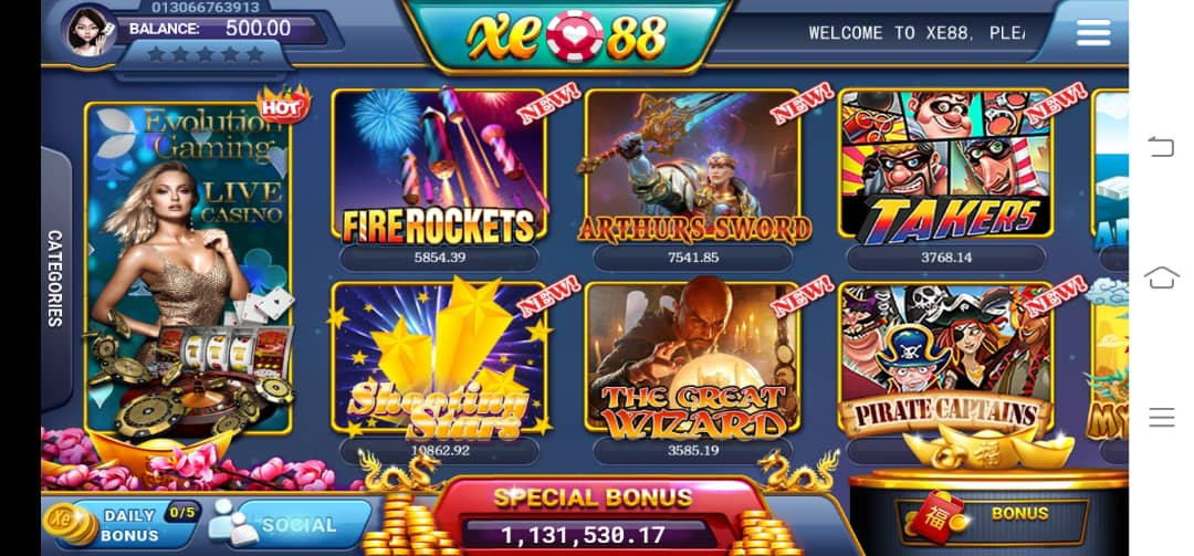 Join LiveSlot77 Play Shooting Stars Slot In XE88 Register