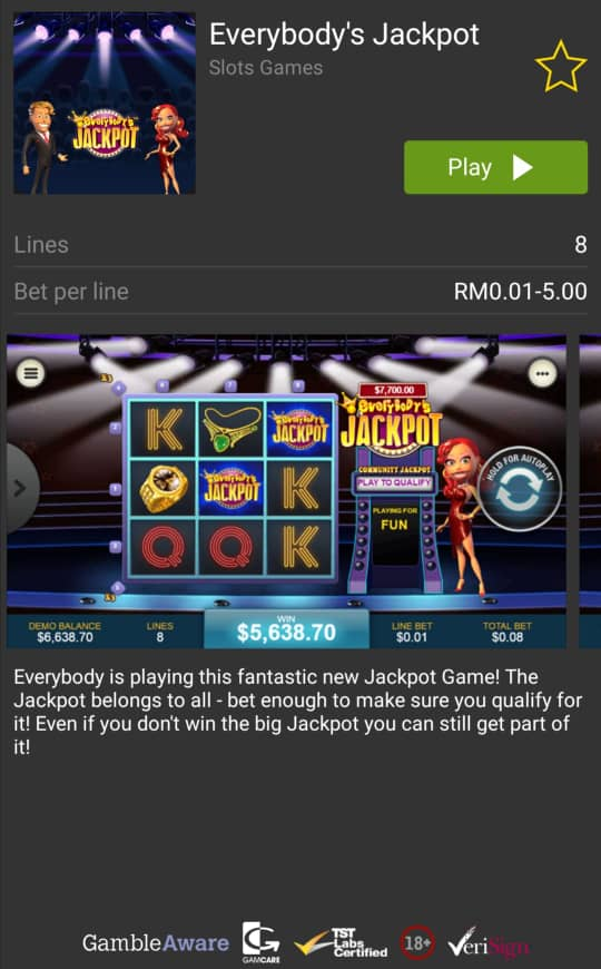 Everybody's Jackpot Online Slot in Rollex 11 Casino Malaysia 2020
