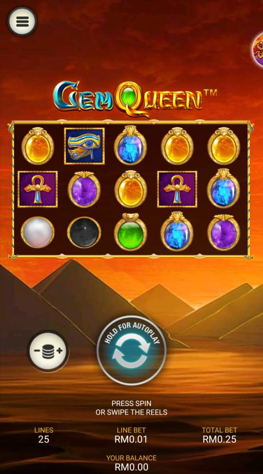 Review of Gem Queen Slot Machine in Rollex 11 Free Credit