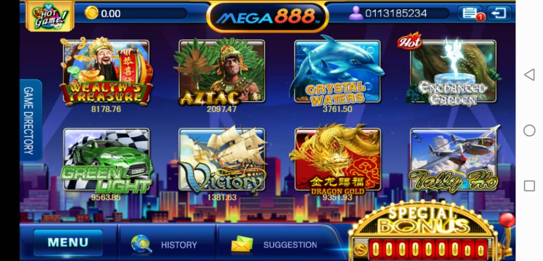 In Brief of Green Light Slot Machine in Mega888 Bet For Win Platform