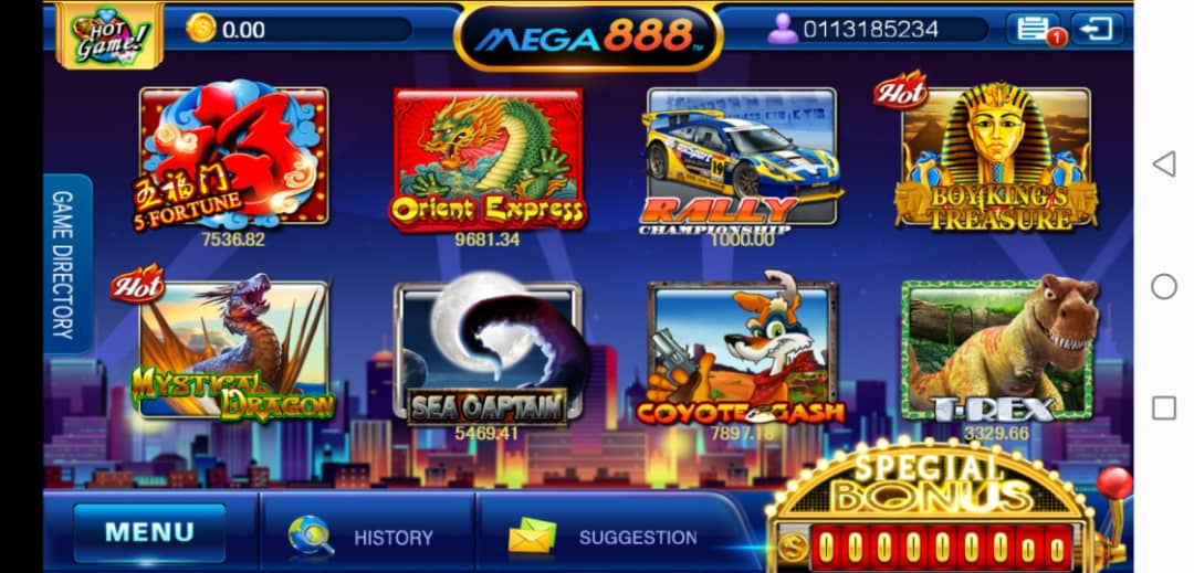 Final Thought of T-Rex Slot Game in Mega888 Test Account