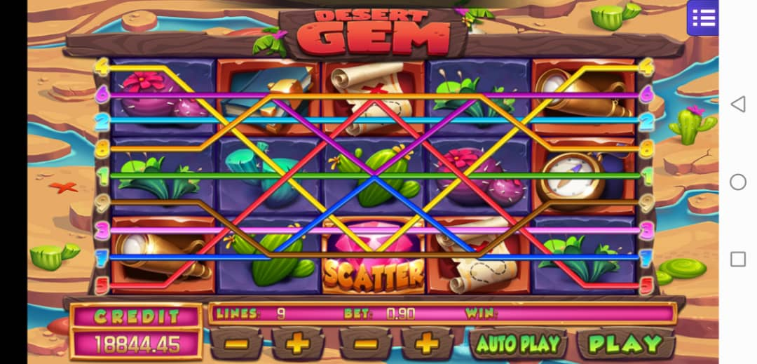 Review of Desert Gem Video Slot in Mega 888 Agent Kiosk Malaysia