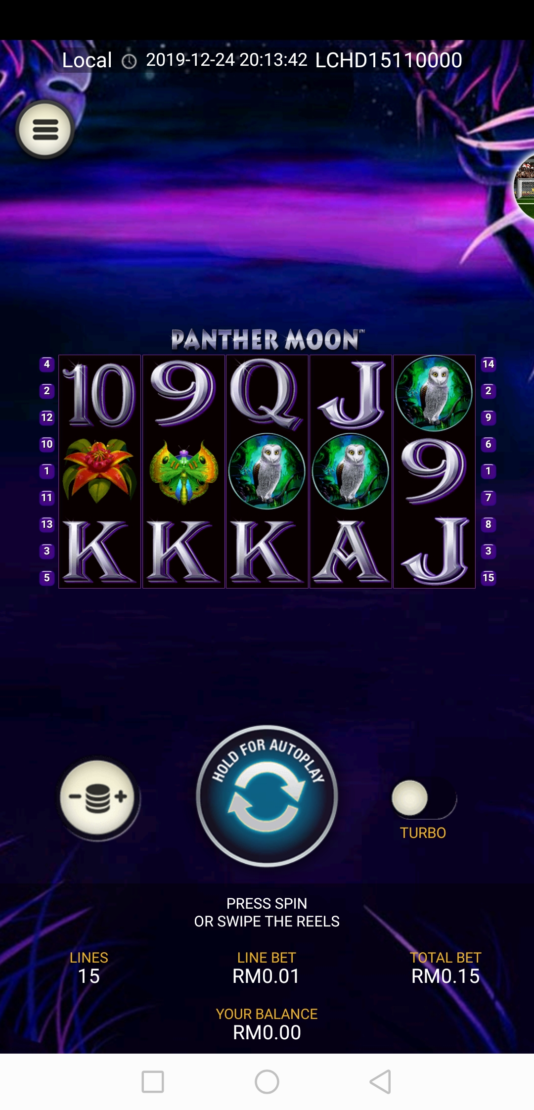 Panther Moon Online Slot Table