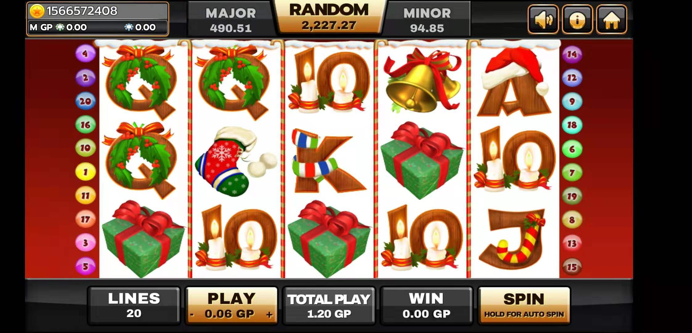 Santa Surprise Slot User Interface