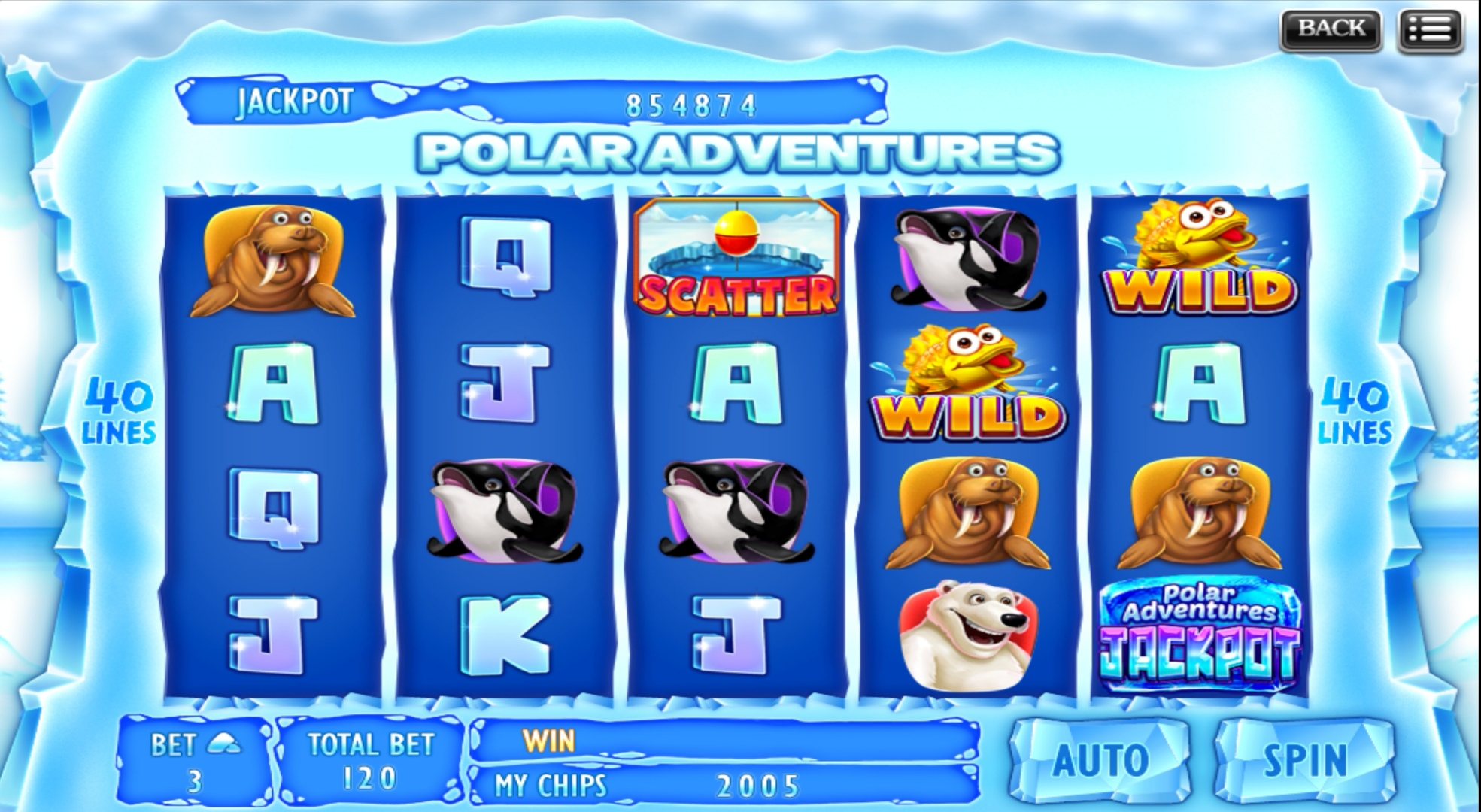 Polar Adventures Slot Table
