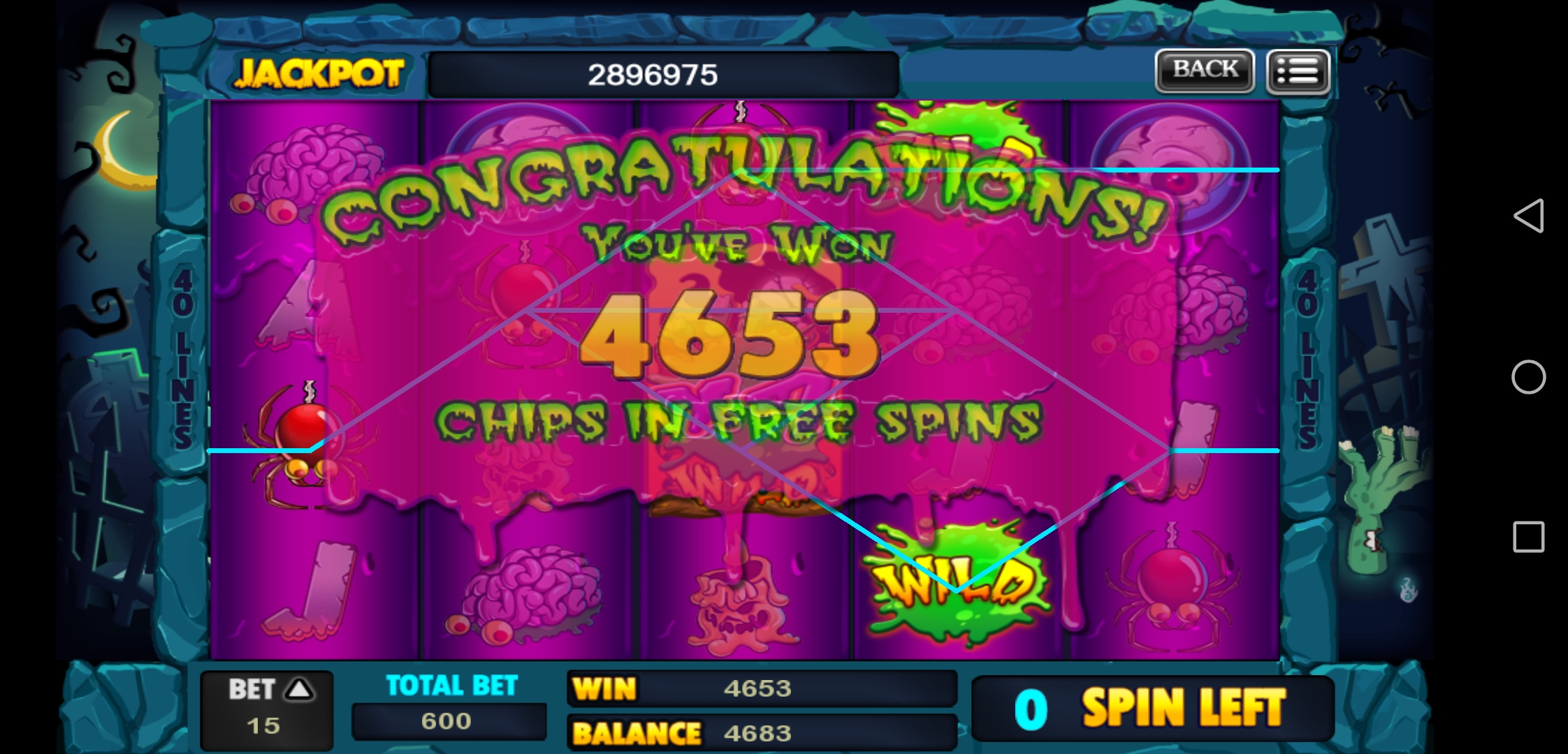 Big Win in Zombie Grave Slots